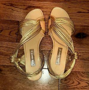 Zara gold strapped sandals